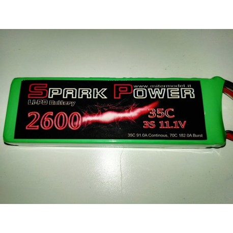 LIPO SPARKPOWER 3S 2600mah MPX CONNECTOR